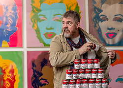 Entertainer Phill Jupitus launches the Andy Warhol and Eduardo Paolozzi | I want to be a machine, a major NGS exhibition which explores the mutual fascination for automation, machines and mechanical processes of two of Pop Art&rsquo;s giants, Andy Warhol (1928-1987) and Eduardo Paolozzi (1924-2005).<br /> <br /> Running from 17 November 2018 to 2 June 2019, Andy Warhol and Eduardo Paolozzi | I Want to be a Machine will consist of two parallel displays devoted to each artist, examining the development of their work from the 1940s onwards. Highlights will include striking images like Warhol&rsquo;s famous multi-coloured prints of Marilyn Monroe and Paolozzi&rsquo;s dazzling, kaleidoscopic prints of the &rsquo;60s and &rsquo;70s.