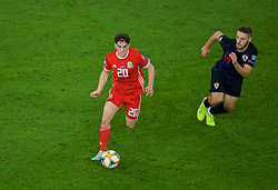 CARDIFF, WALES - Sunday, October 13, 2019: Wales' Daniel James during the UEFA Euro 2020 Qualifying Group E match between Wales and Croatia at the Cardiff City Stadium. (Pic by Paul Greenwood/Propaganda)
