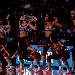 Oct 20, 2017; New Orleans, LA, USA; New Orleans Pelicans dance team performs during the second half of a game against the Golden State Warriors at the Smoothie King Center. The Warriors defeated the Pelicans 128-120.  Mandatory Credit: Derick E. Hingle-USA TODAY Sports