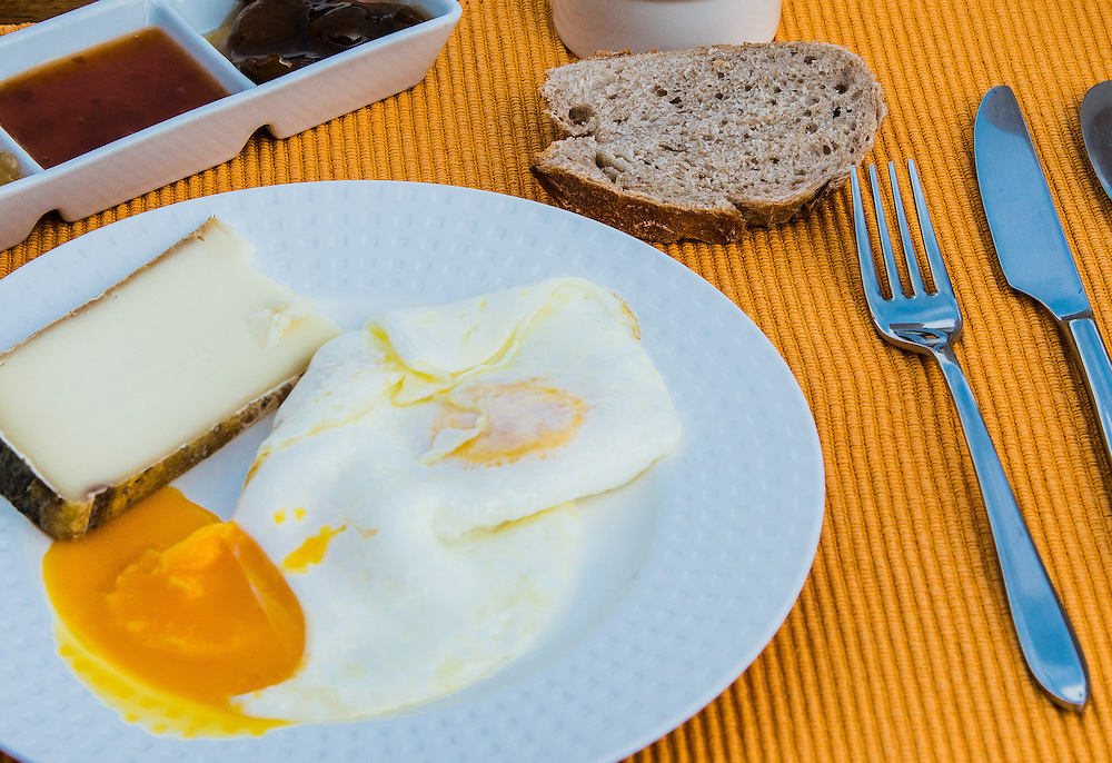 Home made breakfast at a Provence Bed & Breakfast.