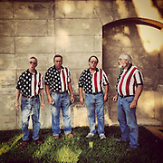 Gary Cosby Jr.  iPhone photographs<br /> Singers warm up beside for a concert at the Limestone County Courthouse.
