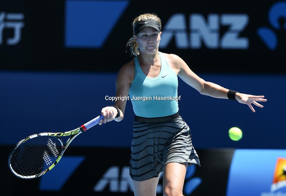 Australian Open 2014, Melbourne Park,ITF Grand Slam Tennis Tournament ,Eugenie Bouchard (CAN),Aktion,<br /> Einzelbild,Halbkoerper,Querformat,