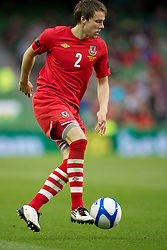 DUBLIN, REPUBLIC OF IRELAND - Friday, May 27, 2011: Wales' Chris Gunter in action against Northern Ireland during the Carling Nations Cup match at the Aviva Stadium (Lansdowne Road). (Photo by David Rawcliffe/Propaganda)
