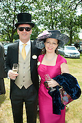 LORD NORTHBROOK; CHARLOTTE PILCE, Lunch part hosted by Liz Brewer and Mrs. George Piskova in No; 1 car-park. . Royal Ascot. Tuesday. 14 June 2011. <br /> <br />  , -DO NOT ARCHIVE-© Copyright Photograph by Dafydd Jones. 248 Clapham Rd. London SW9 0PZ. Tel 0207 820 0771. www.dafjones.com.