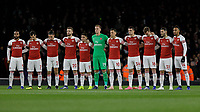 Football - 2018 / 2019 Premier League - Arsenal vs. Liverpool<br /> <br /> The Arsenal starting 11 line up to pay their respects to the Leicester City chairman at The Emirates.<br /> <br /> COLORSPORT/DANIEL BEARHAM