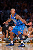 30 October 2012: Guard (30) Dahntay Jones of the Dallas Mavericks against the Los Angeles Lakers during the first half of the Mavericks 99-91 victory over the Lakers at the STAPLES Center in Los Angeles, CA.