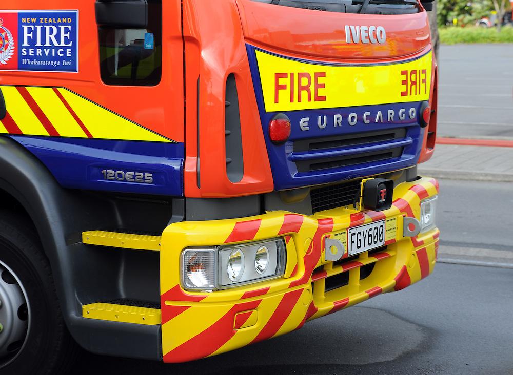 Fire Services fire appliance, fire engine, fire response, Porirua, Sunday, June 02, 2013. Credit:SNPA / Ross Setford