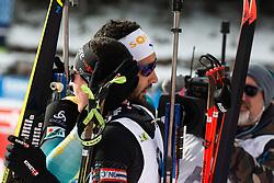 Martin Fourcade (FRA), Quentin Fillon Maillet (FRA) after the Mass Start Men 15 km at day 4 of IBU Biathlon World Cup 2019/20 Pokljuka, on January 23, 2020 in Rudno polje, Pokljuka, Pokljuka, Slovenia. Photo by Peter Podobnik / Sportida