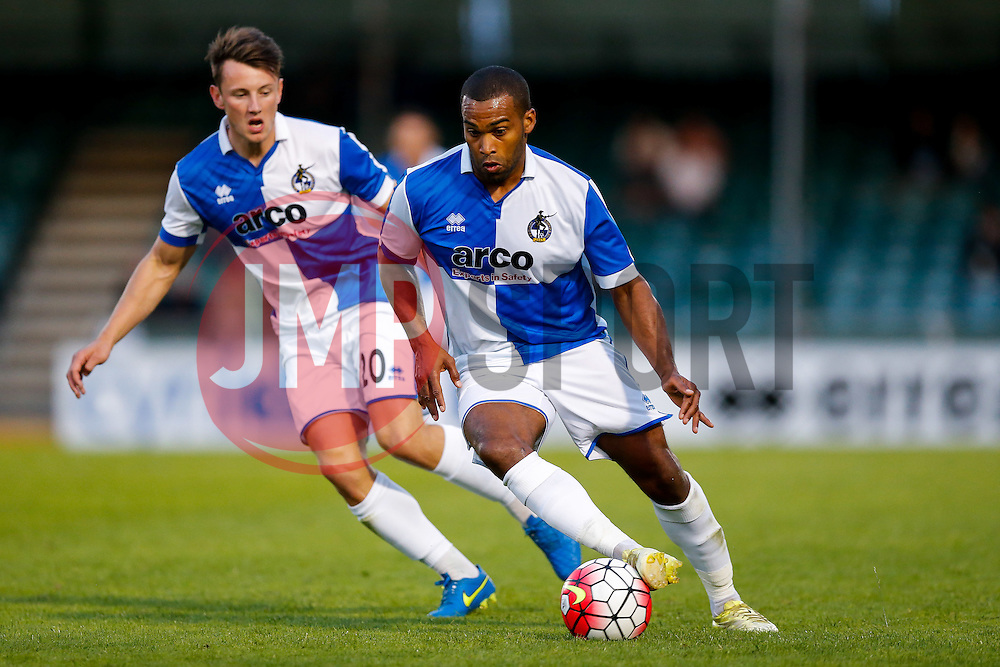 Jermaine Easter of Bristol Rovers in action - Mandatory byline: Rogan Thomson/JMP - 07966 386802 - 31/07/2015 - FOOTBALL - Memorial Stadium - Bristol, England - Bristol Rovers v West Bromwich Albion - Phil Kite Testimonial Match.