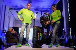 Benjamin Savsek and Mateja Simic at Official presentation of the Designer wear for Slovenian Athletes at PyeongChang Winter Olympic Games 2018, on December 19, 2017 in Grand Hotel Union, Ljubljana, Slovenia. Photo by Urban Urbanc / Sportida