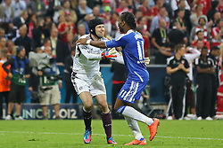 19.05.2012, Allianz Arena, Muenchen, GER, UEFA CL, Finale, FC Bayern Muenchen (GER) vs FC Chelsea (ENG), im Bild  Chelsea's Czech goalkeeper Petr Cech and Chelsea's Ivory Coast forward Didier Drogba celebrate winning  during the Final Match of the UEFA Championsleague between FC Bayern Munich (GER) vs Chelsea FC (ENG) at the Allianz Arena, Munich, Germany on 2012/05/19. . EXPA Pictures © 2012, PhotoCredit: EXPA/ Mitchel Gunn