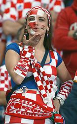 10-06-2012 VOETBAL: UEFA EURO 2012 DAY 3: POLEN OEKRAINE<br /> Match between Croatia and Ireland, group C. Poznan, Poland - Euro 2012 Championship / Support Croatia<br /> ***NETHERLANDS ONLY***<br /> ©2012-FotoHoogendoorn.nl