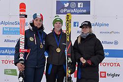 Podium at 2018 World Para Alpine Skiing Cup, Kranjska Gora, Slovenia