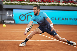 May 8, 2018 - Madrid, Spain - Bosnian Damir Dzumhur during Mutua Madrid Open 2018 at Caja Magica in Madrid, Spain. May 08, 2018. (Credit Image: © Coolmedia/NurPhoto via ZUMA Press)