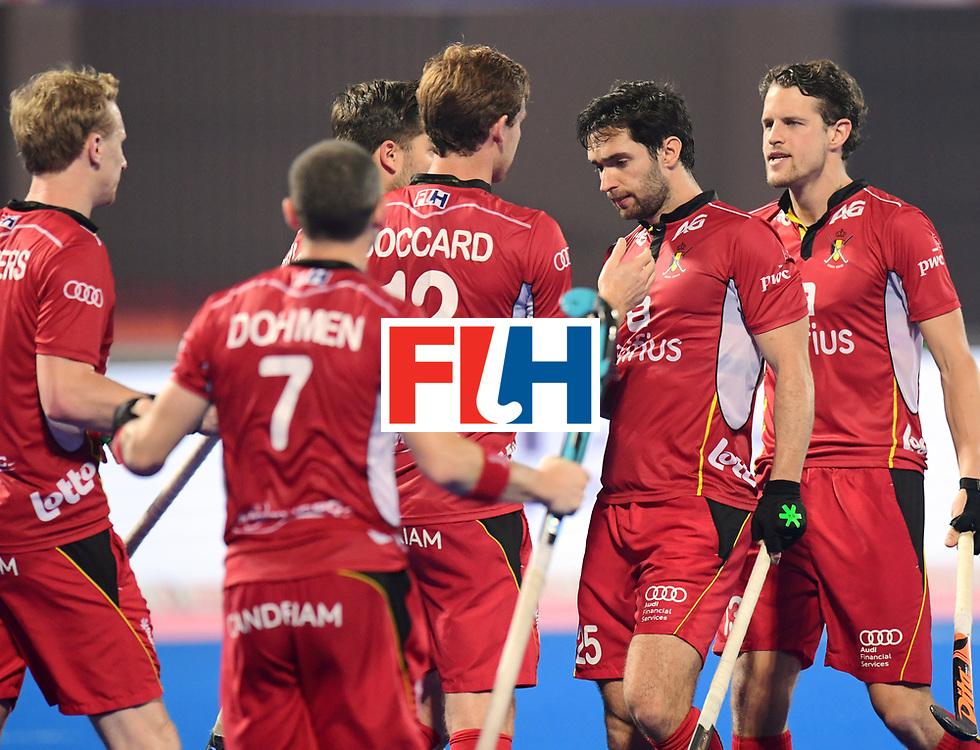 Odisha Men's Hockey World League Final Bhubaneswar 2017<br /> Match id:07<br /> Belgium v Spain<br /> Foto: Loick Luypaert (Bel) scored a goal<br /> WORLDSPORTPICS COPYRIGHT FRANK UIJLENBROEK
