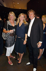 Left to right, LOUISE FENNELL, ALANNAH WESTON and THEO FENNELL at the opening party of the new Frankie's Bar & Grill at Selfridges, Oxford Street, London on 6th September 2006.<br />