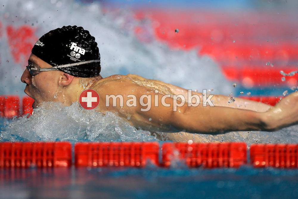 Dinko Jukic of Austria competes in the men's 50m butterfly heats in the Susie O'Neill pool at the FINA Swimming World Championships in Melbourne, Australia, Sunday 25 March 2007. (Photo by Patrick B. Kraemer / MAGICPBK)