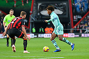 Alex Iwobi (17) of Arsenal on the attack during the Premier League match between Bournemouth and Arsenal at the Vitality Stadium, Bournemouth, England on 25 November 2018.