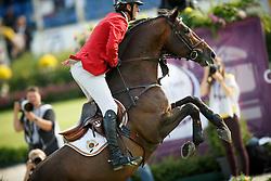 Wathelet Gregory, (BEL), Conrad de Hus<br /> Team and 1th individual qualifier <br /> FEI European Championships - Aachen 2015<br /> © Hippo Foto - Dirk Caremans<br /> 19/08/15