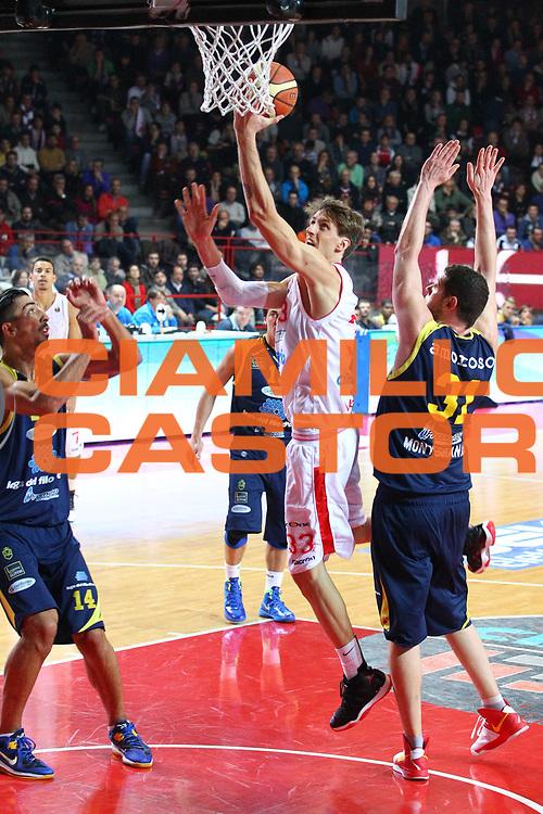 DESCRIZIONE : Varese Lega A 2012-13 Cimberio Varese Sutor Montegranaro<br /> GIOCATORE : Achille Polonara<br /> CATEGORIA : Tiro<br /> SQUADRA : Cimberio Varese<br /> EVENTO : Campionato Lega A 2012-2013<br /> GARA : Cimberio Varese Sutor Montegranaro<br /> DATA : 09/12/2012<br /> SPORT : Pallacanestro <br /> AUTORE : Agenzia Ciamillo-Castoria/G.Cottini<br /> Galleria : Lega Basket A 2012-2013  <br /> Fotonotizia : Varese Lega A 2012-13 Cimberio Varese Sutor Montegranaro<br /> Predefinita :