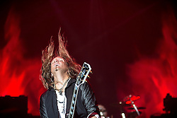 © Licensed to London News Pictures . 15/12/2015 . Manchester , UK . JOEL HOEKSTRA . Whitesnake perform at the Manchester Arena . Photo credit : LNP