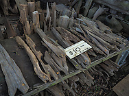 Driftwood for sale at Adam's Cypress Swamp Driftwood Family Museum in Pierre Part, Louisiana.