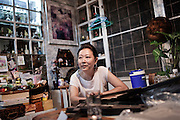 KADEEJEEN, BANGKOK, THAILAND, DECEMBER 2012:..A portoguese Origin Family living in Kadeejeen, Dec 2012...The Kadeejeen neighbourhood comprises six communities  Wat Kalaya, Kudeejeen, Wat Prayurawong, Wat Bupparaam, Kudee Khao and Roang Kraam...Ever since the Thonburi era (in the 17th Century), these historic neighbourhoods have maintained the diverse cultural heritage of three religions and four beliefs (Theravada Buddhism, Mahayana Buddhism, Christianity and Muslim) while coexisting in peaceful harmony...The neighbourhood is still characterised by Bangkok's traditional urbanism which is that of a fine-grained, religious establishment-centred urban structure with close-knit social cohesion. ©Giulio Di Sturco/Reportage by Getty Images.