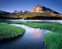 Schiestler Peak from Big Sandy Lake, Bridger Wilderness Wind River Range Wyoming USA