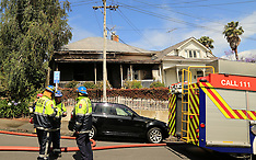 Auckland-Fire crews attend house fire Freemans Bay