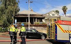 Auckland-Fire crews attend house fire Freemans Bay