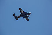 "North American B-25 Mitchell, ""Grumpy"" flying at Warbirds Over the West."