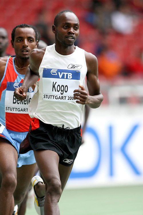 (Stuttgart, Germany---14 September 2008) Micah Kogo of Kenya running to third in the 5000m at the 2008 World Athletics Final. [Copyright Sean W. Burges/Mundo Sport Images, 2008.]
