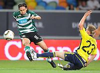 20100819: LISBON, PORTUGAL - Sporting Lisbon vs Brondby: UEFA Europa League 2010/2011 Play-Offs - First Leg. In picture: Maniche (Sporting) and Michael Krohn-Dehli (Brondby). PHOTO: Alexandre Pona/CITYFILES