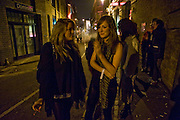 GEORGIE BELL; CHRISTA CURLEY, Sony BRAVIA World First - launch party. The Tramshed, 6-8 Garden Walk, Shoreditch London. 29 January 2009 *** Local Caption *** -DO NOT ARCHIVE-© Copyright Photograph by Dafydd Jones. 248 Clapham Rd. London SW9 0PZ. Tel 0207 820 0771. www.dafjones.com.<br /> GEORGIE BELL; CHRISTA CURLEY, Sony BRAVIA World First - launch party. The Tramshed, 6-8 Garden Walk, Shoreditch London. 29 January 2009