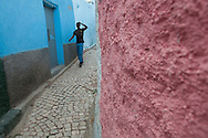 The colorful streets of Harar, Ethiopia.