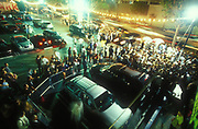 Overview of crowd of people at Gods Kitchen July 2001 , Los Angeles