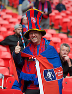 A Crystal Palace fan before the FA Cup Final at Wembley Stadium, London<br /> Picture by Alan Stanford/Focus Images Ltd +44 7915 056117<br /> 21/05/2016