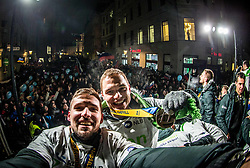 Urban Lesjak and Vid Poteko during reception of Slovenian National Handball Men team after they placed third at IHF World Handball Championship France 2017, on January 30, 2017 in Mestni trg, Ljubljana centre, Slovenia. Photo by Vid Ponikvar / Sportida
