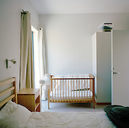 Halden Prison, Norway, June 2014:<br /> Bedroom in the family house. The inmates can book the family house when they have overnight visits.<br /> -- No commercial use --<br /> Photo: Knut Egil Wang/Moment/INSTITUTE