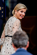 18-5-2017 THE HAGUE - Queen Maxima King Willem-Alexander arrives at the Noordeinde Palace in The Hague on Thursday 18th May the Orange Apples. The prizes are awarded this year to three social initiatives dedicated to vulnerable children. Experiences from Stichting Informele Zorg (SIZ) Twente, Stichting Buurtgezinnen.nl and Stichting Weekend Academy will receive the prizes on May 18. ROBIN UTRECHT<br /> 18-5-2017 DEN HAAG - Koningin Maxima Koning Willem-Alexander reikt op donderdagochtend 18 mei de Appeltjes van Oranje uit op Paleis Noordeinde in Den Haag. De prijzen worden dit jaar toegekend aan drie sociale initiatieven die zich inzetten voor kwetsbare kinderen. Ervaringsmaatjes van Stichting Informele Zorg (SIZ) Twente, Stichting Buurtgezinnen.nl en Stichting Weekend Academie nemen de prijzen op 18 mei in ontvangst.ROBIN UTRECHT