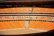 Inside the stadium during the construction of Soccer City Stadium, Johannesburg - venue for FIFA 2010 South Africa World Cup Final.