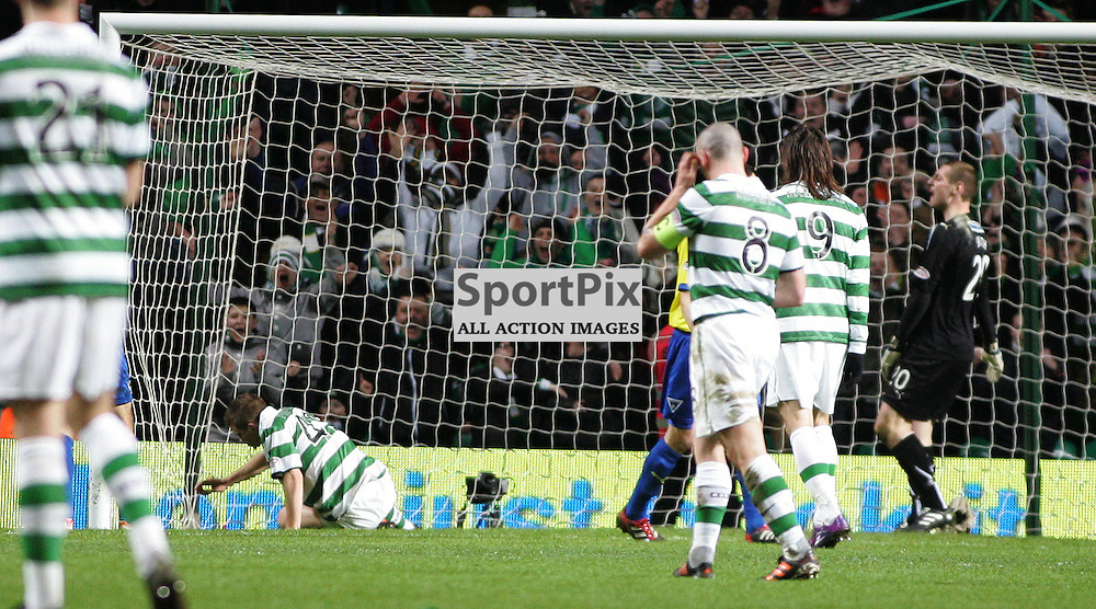 James Forest makes it 2-0 in this evenings  Clydesdale Bank Scottish Premier League game between Celtic FC Dunfermline Athletic FC...At Parkhead Stadium, Glasgow.