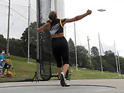 Jul 28, 2019; Des Moines, IA, USA; Valarie Allman wins the women's discus with a throw of 211-1 (64.34m) during the USATF Championships at Drake Stadium.