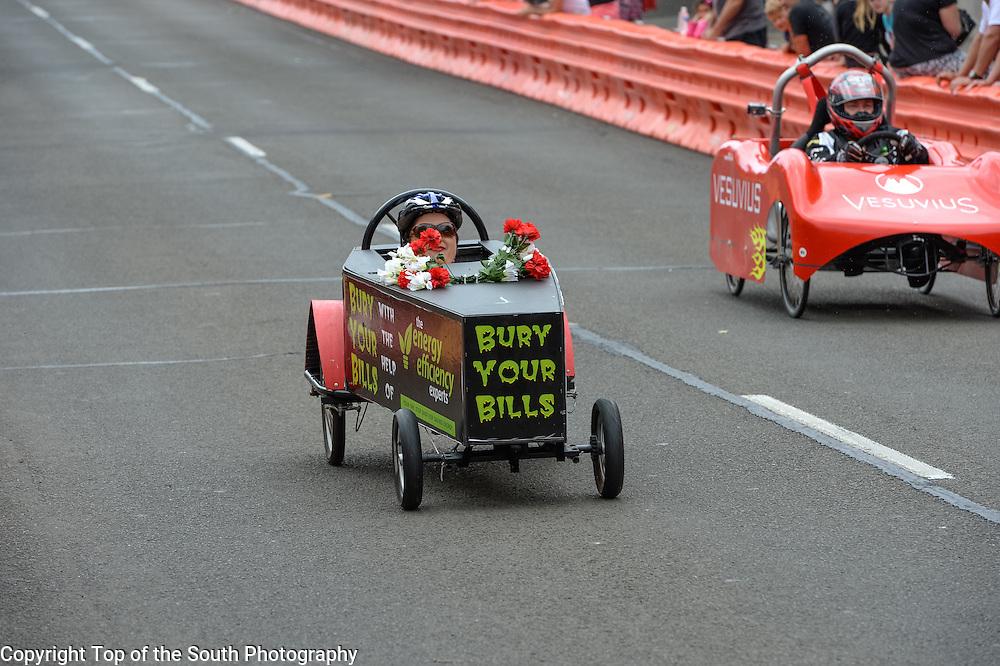 Annual Port Kembla Billy Cart Derby 2015, NSW, Australia