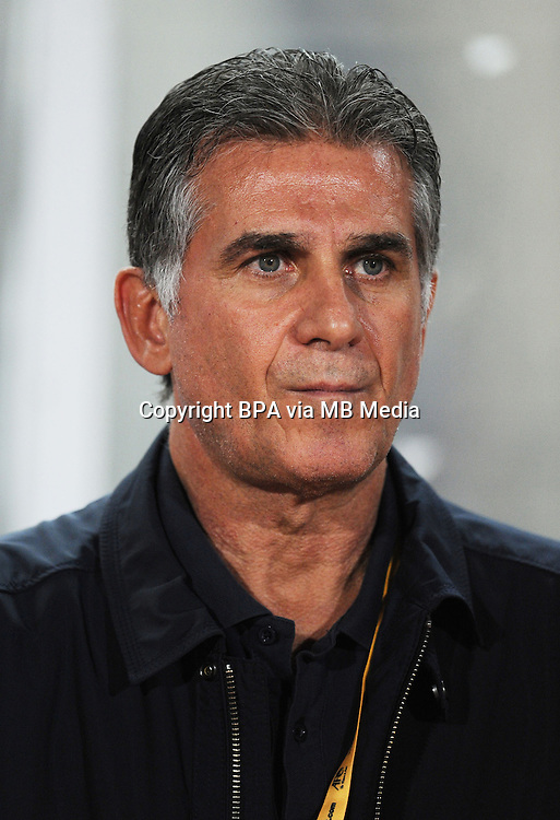 Asian Football Confederation - ASIAN CUP 2015 - Qualifing Match /<br /> Lebanon vs Iran 1-4  ( Sports City Stadium  - Beyrut , Lebanon ) <br /> Carlos Queiroz - Coach of Iran , during the match between Lebanon and Iran
