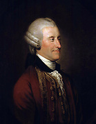 John Montagu, 4th Earl of Sandwich' (1718-1792) British aristocrat and politician, originator of the sandwich.  Cook named Sandwich Islands after him. Johann Zoffany or Zauffelij (1733–1810) German painter, active mainly in England.