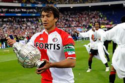 27-04-2008 VOETBAL: KNVB BEKERFINALE FEYENOORD - RODA JC: ROTTERDAM <br /> Feyenoord wint de KNVB beker - Giovanni van Bronckhorst<br /> ©2008-WWW.FOTOHOOGENDOORN.NL