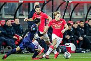 (L-R) Cristian Cuevas of FC Twente, Jonas Svensson of AZ Alkmaar