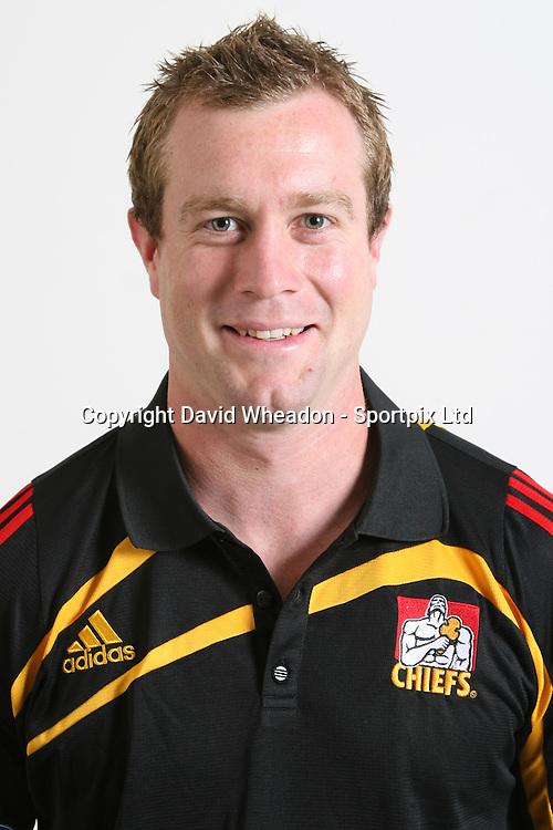 Toby Morland, Chiefs squad 2009 season, headshot portrait, Rebel Sport Super 14, Rugby Union, Waikato Stadium, Hamilton, Waikato, New Zealand, Credit: Sportpix - David Wheadon