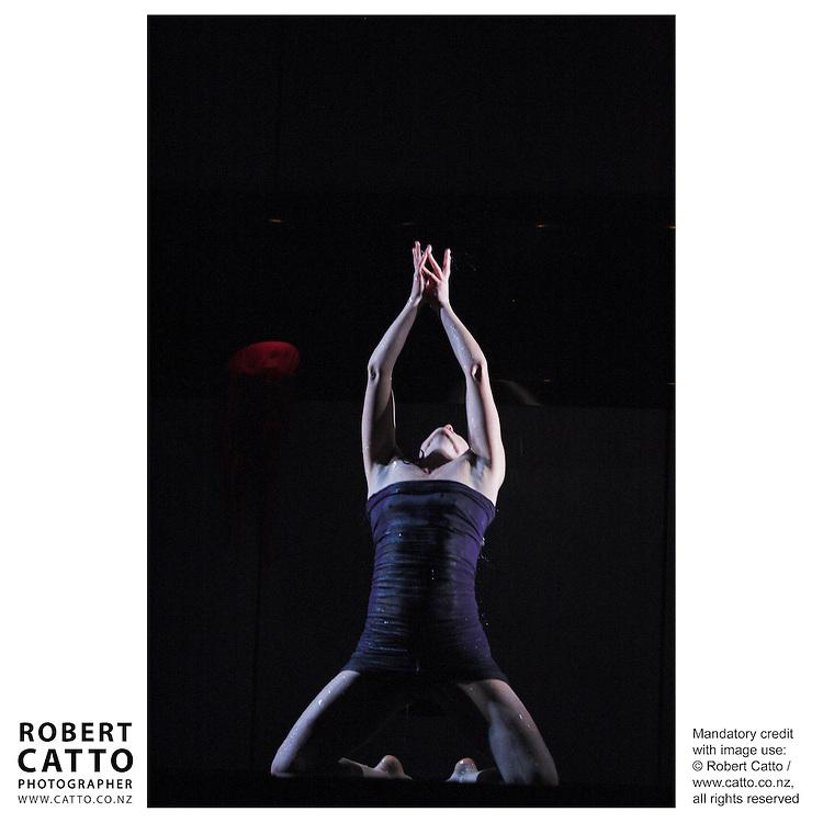 Dancers Charles Koroneho and Carol Brown perform in Aarero Stone, at Soundings Theatre, Te Papa.